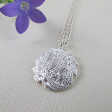 Load image into Gallery viewer, Laurel leaf motif vintage button necklace by Swallow Jewellery