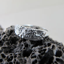 Load image into Gallery viewer, Barnacle imprinted ring from Kin Beach, Vancouver Island - Swallow Jewellery