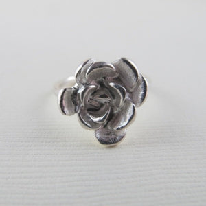 Succulent imprinted ring from Victoria, BC - Swallow Jewellery