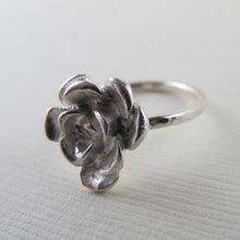 Load image into Gallery viewer, Succulent imprinted ring from Victoria, BC - Swallow Jewellery