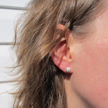 Load image into Gallery viewer, Blackberry imprinted earring studs from the Galloping Goose Trail - Swallow Jewellery