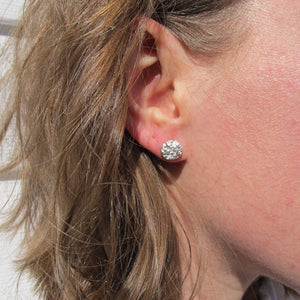 Whale bone imprinted earring studs from Victoria, BC - Swallow Jewellery