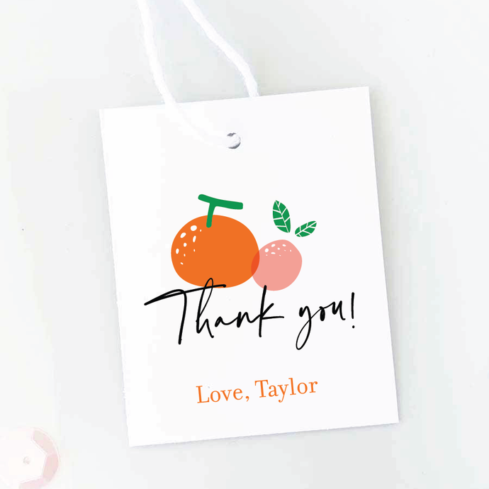 A Little Cutie Baby Shower Favor Tags