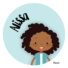 Load image into Gallery viewer, Personalized Childrens Stickers African American