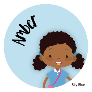 Personalized Childrens Stickers African American