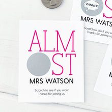 Load image into Gallery viewer, Almost Mrs Bridal Shower Scratch Offs