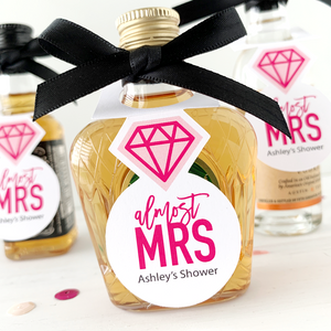 diamond ring mini bottle tags almost mrs