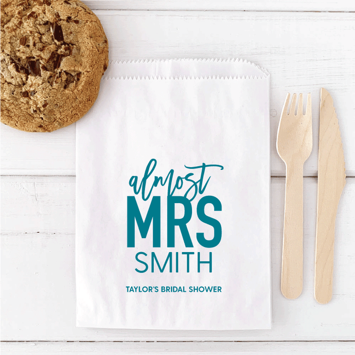 Almost Mrs Bridal Shower Favor Bags