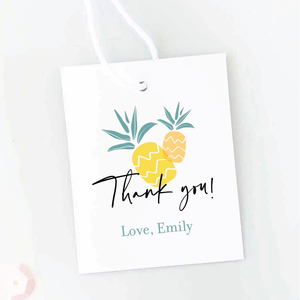 Aloha Baby Pineapple Baby Shower Favor Tags