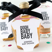 Load image into Gallery viewer, baby shower mini bottle tags