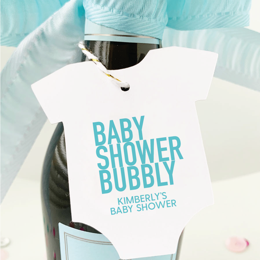 Baby Shower Bubbly Champagne Favor Tags