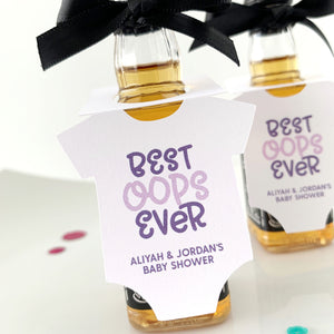 best oops ever mini liquor bottle baby shower favor tags