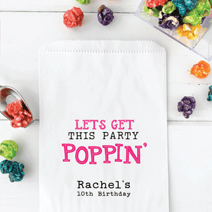 Birthday Party Popcorn Favor Bags