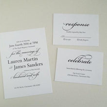 Load image into Gallery viewer, Black and White Wedding Invitation Set