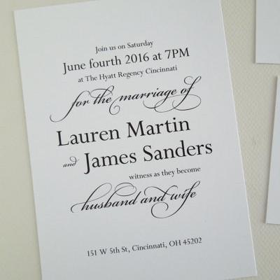 Black and White Wedding Invitation Set