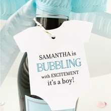 Load image into Gallery viewer, Bubbling with Excitement Baby Shower Favor Tags