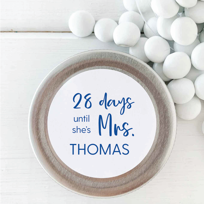 Bridal Shower Countdown Sticker