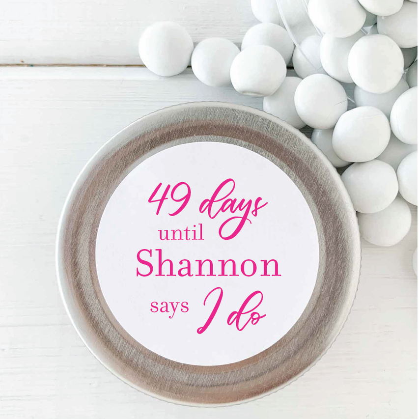 Days Until I Do Bridal Shower Sticker