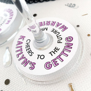 Personalized Bridal Shower Glass Tags