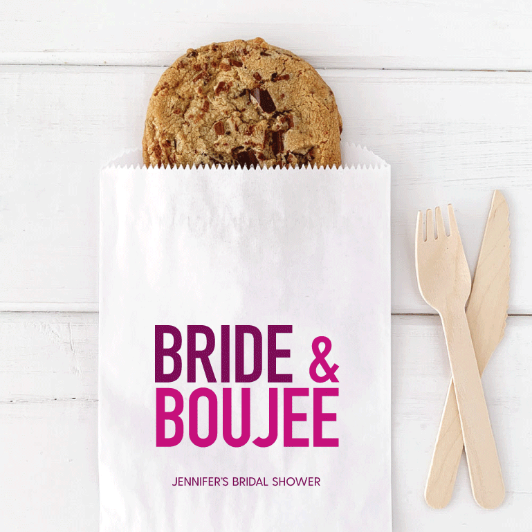 Bride and Boujee Bridal Shower Favor Bags