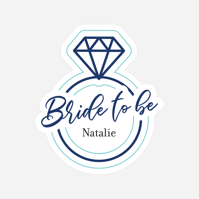 Bride to Be Diamond Ring Sticker