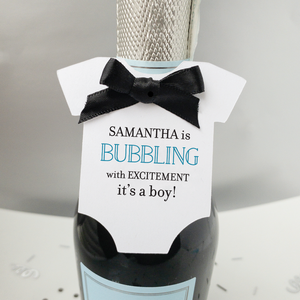 Bubbling with Excitement Baby Shower Favor Tags