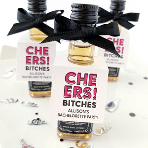 Cheers Bitches Bachelorette Party Favor Tags