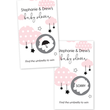 Load image into Gallery viewer, Clouds and Stars Baby Shower Scratch Off Game