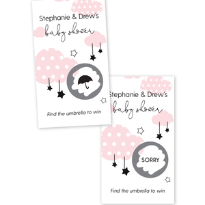 Clouds and Stars Baby Shower Scratch Off Game