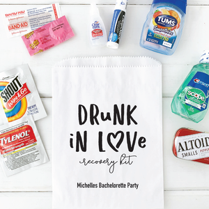 Drunk In Love Hangover Recovery Bags Bachelorette Party Favors