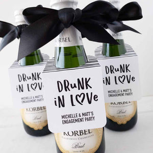 Drunk In Love Tags Mini Champagne Tags