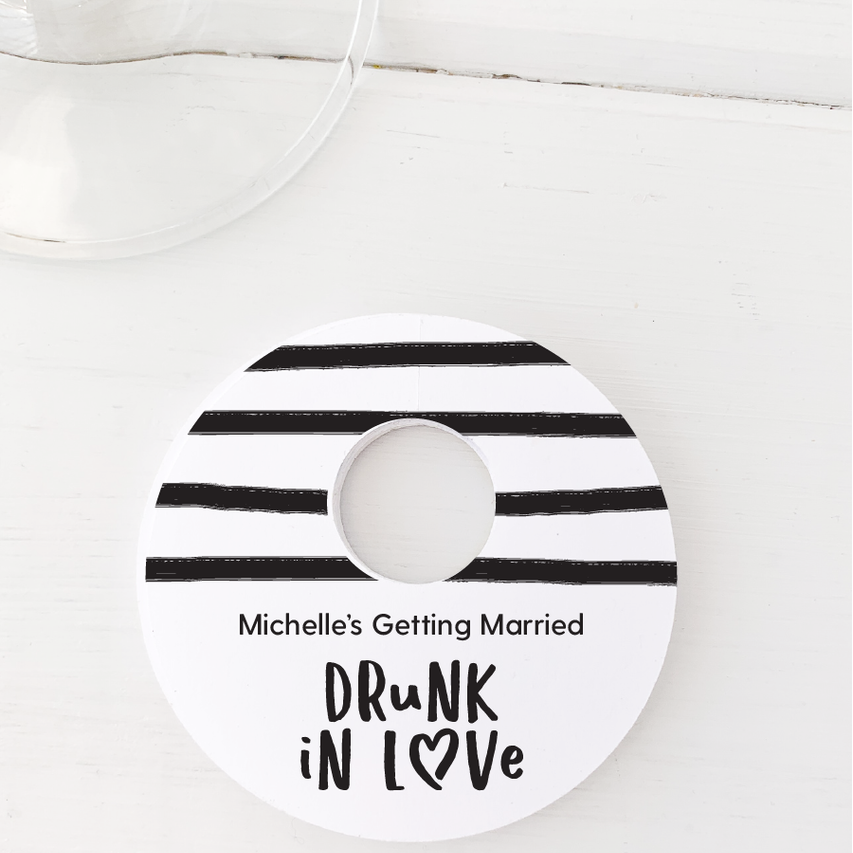 Drunk In Love Wine Glass Stem Tags