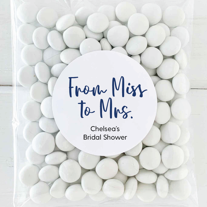 From Miss to Mrs Bridal Shower Stickers