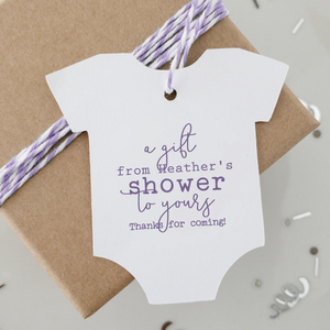 From My Shower To Yours Baby Shower Favor Tags