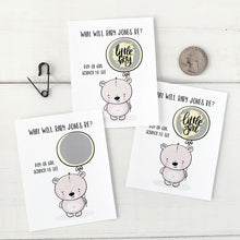 Load image into Gallery viewer, Baby Bear Gender Reveal Scratch Offs