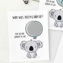 Load image into Gallery viewer, Baby Koala Gender Reveal Scratch Off