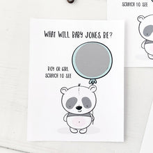Load image into Gallery viewer, Baby Panda Gender Reveal Scratch Off