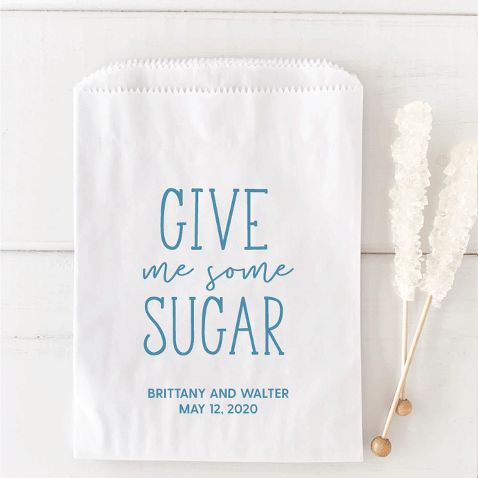 Give Me Some Sugar Wedding Candy Bar Bags