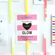 Load image into Gallery viewer, Glow Stick Valentine Printable