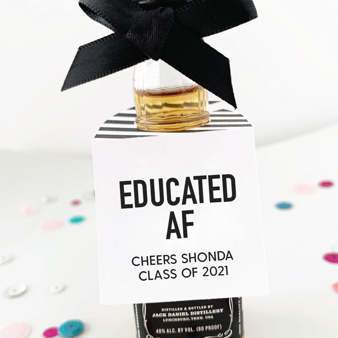 Educated AF Graduation Party Favor Tags