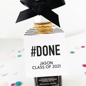 Hashtag Done Graduation Party Favor Tags