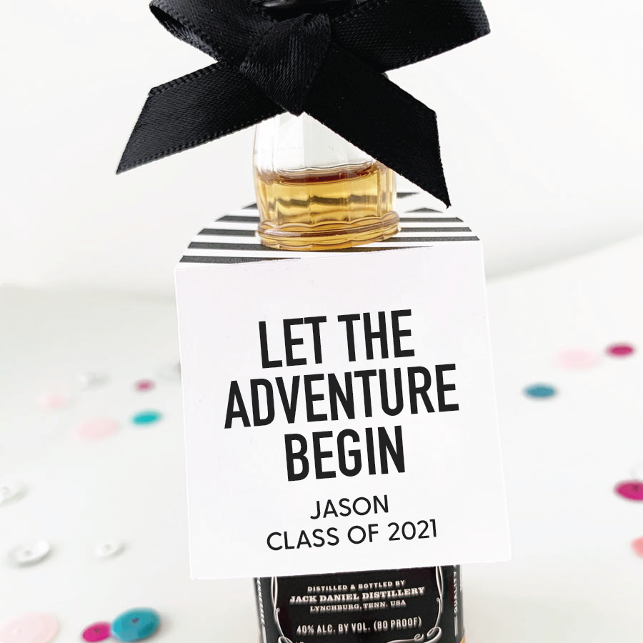 Let the Adventure Begin Graduation Party Favor Tags