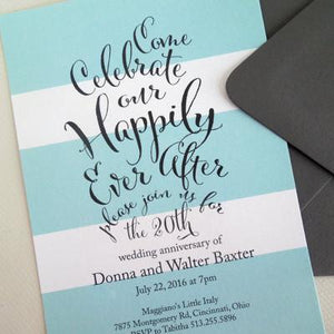 Happily Ever After Anniversary Dinner Invitation