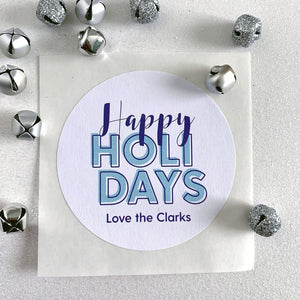 Happy Holiday Christmas Gift Sticker