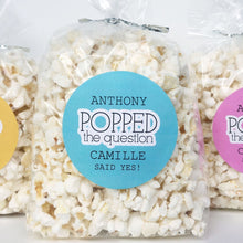 Load image into Gallery viewer, He Popped The Question Popcorn Favor Labels