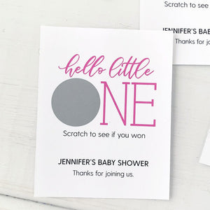 Baby Shower Scratch Offs Hello Little One
