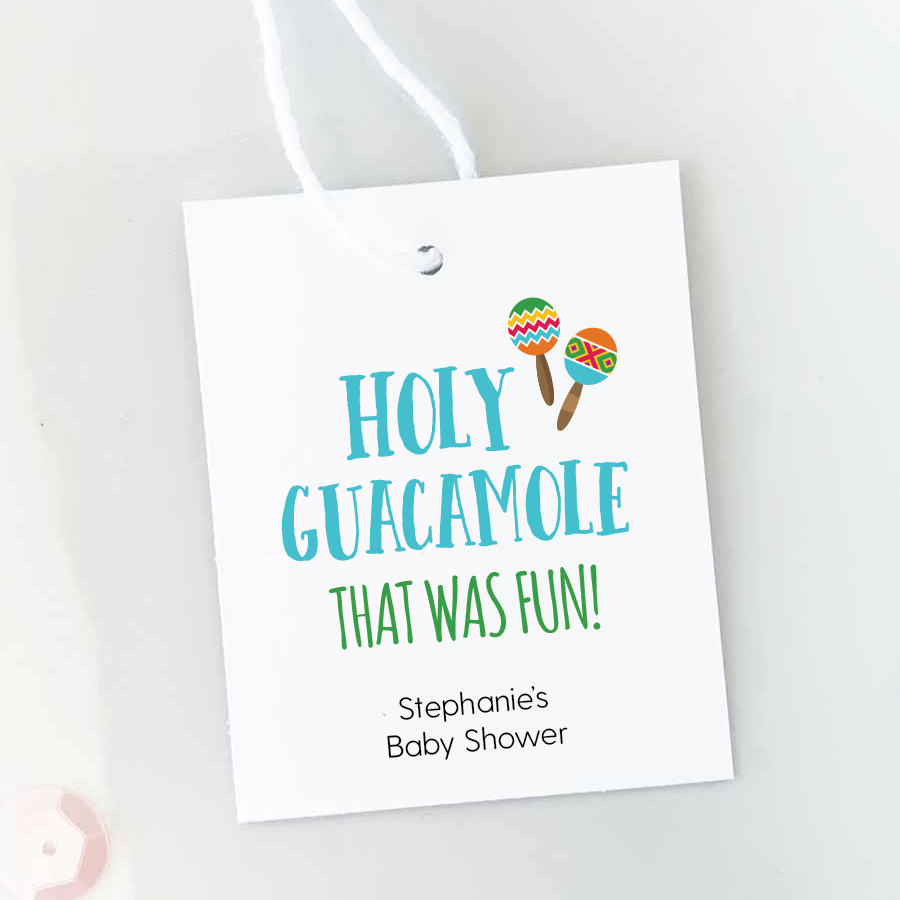 holy guacamole guest favor tags