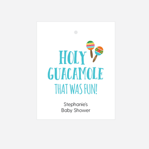 Holy Guacamole Baby Shower Favor Tags