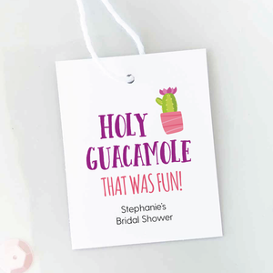 Holy Guacamole Bridal Shower Favor Tags