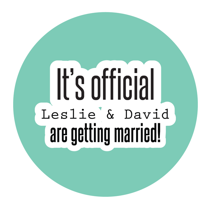 It's Official We're Getting Married Engagement Party Sticker